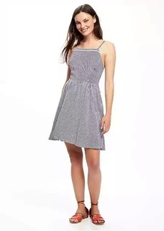 Fit & Flare Linen-Blend Dress for Women
