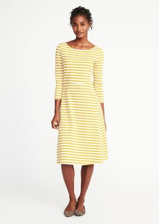Fit & Flare Midi Dress for Women