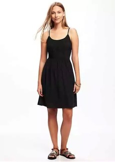 Fit & Flare Pintuck Dress for Women