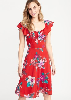 Old Navy Fit & Flare Ruffle-Trim Cami Dress for Women