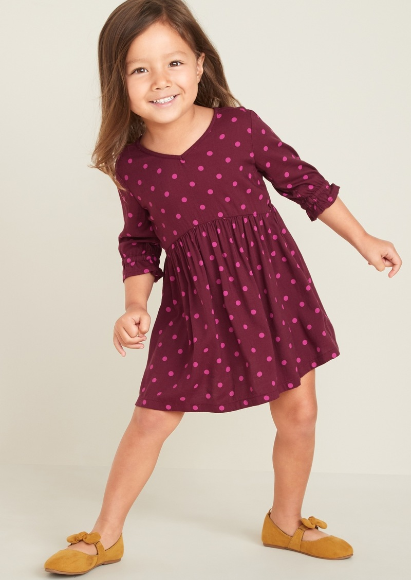 Old Navy Fit & Flare Twill Dress for Toddler Girls