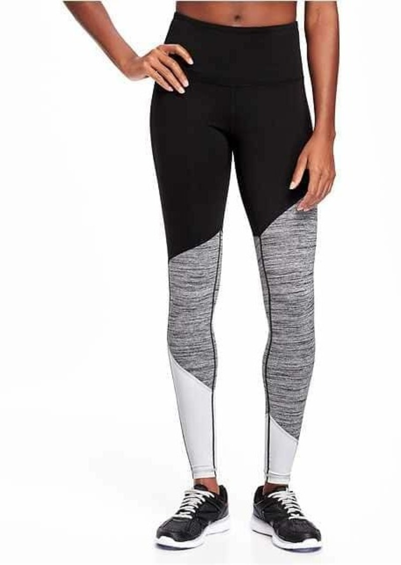 00d99faf87 Old Navy Go-Dry Mid-Rise Color-Block Compression Tights for Women ...