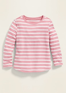 Old Navy Fitted Striped Long-Sleeve Tee for Toddler Girls