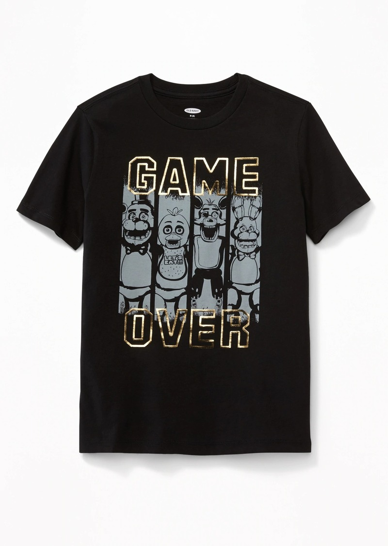 """Old Navy Five Nights at Freddy's&#153 """"Game Over"""" Tee for Boys"""