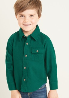Old Navy Flannel Chest-Pocket Shirt for Toddler Boys