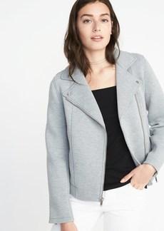 Old Navy Fleece-Knit Moto Jacket for Women