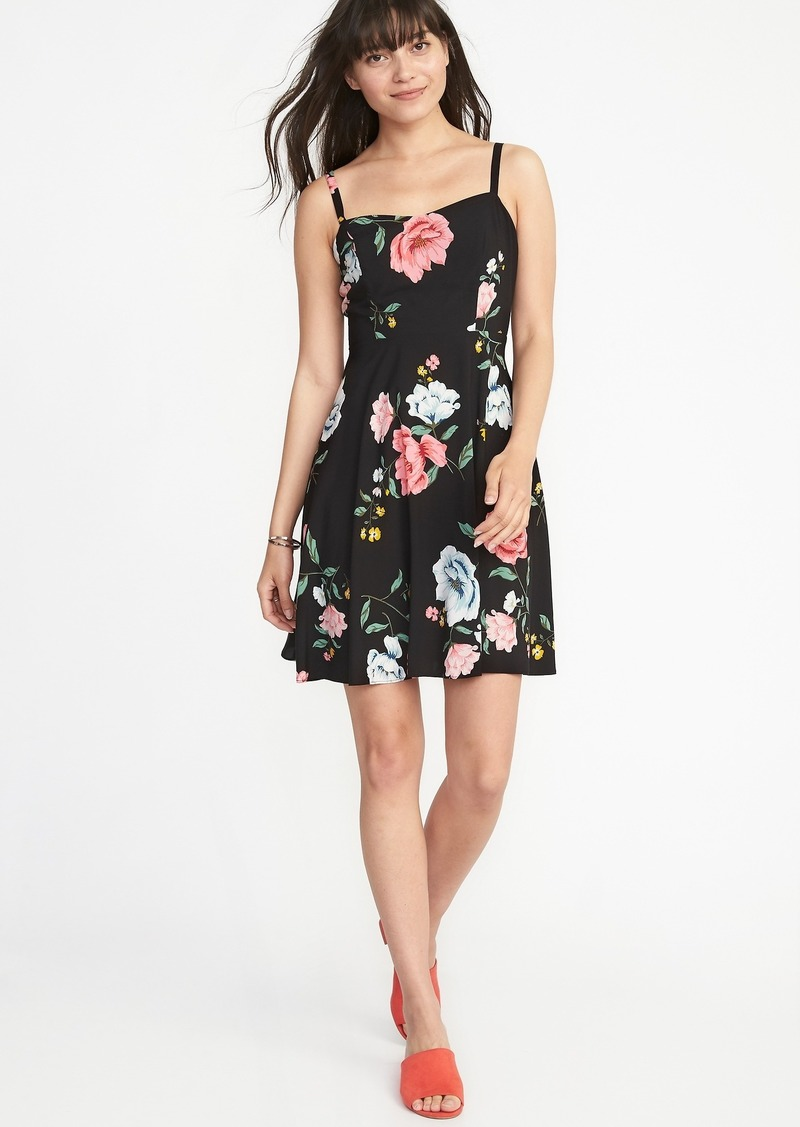 be447b214f2a3 Floral Fit & Flare Cami Dress for Women