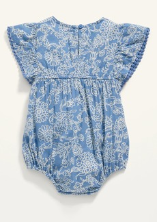 Old Navy Floral Flutter-Sleeve Bubble One-Piece for Baby