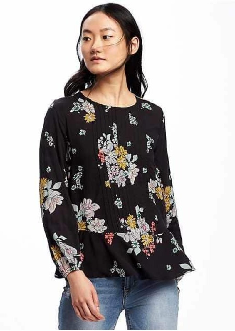 3425df06bc1 Old Navy Floral Pintuck Swing Blouse for Women
