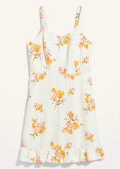 Old Navy Floral-Print Fit & Flare Ruffle-Hem Cami Dress for Women