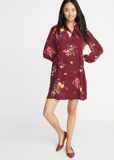 Old Navy Floral-Print Georgette Swing Dress for Women