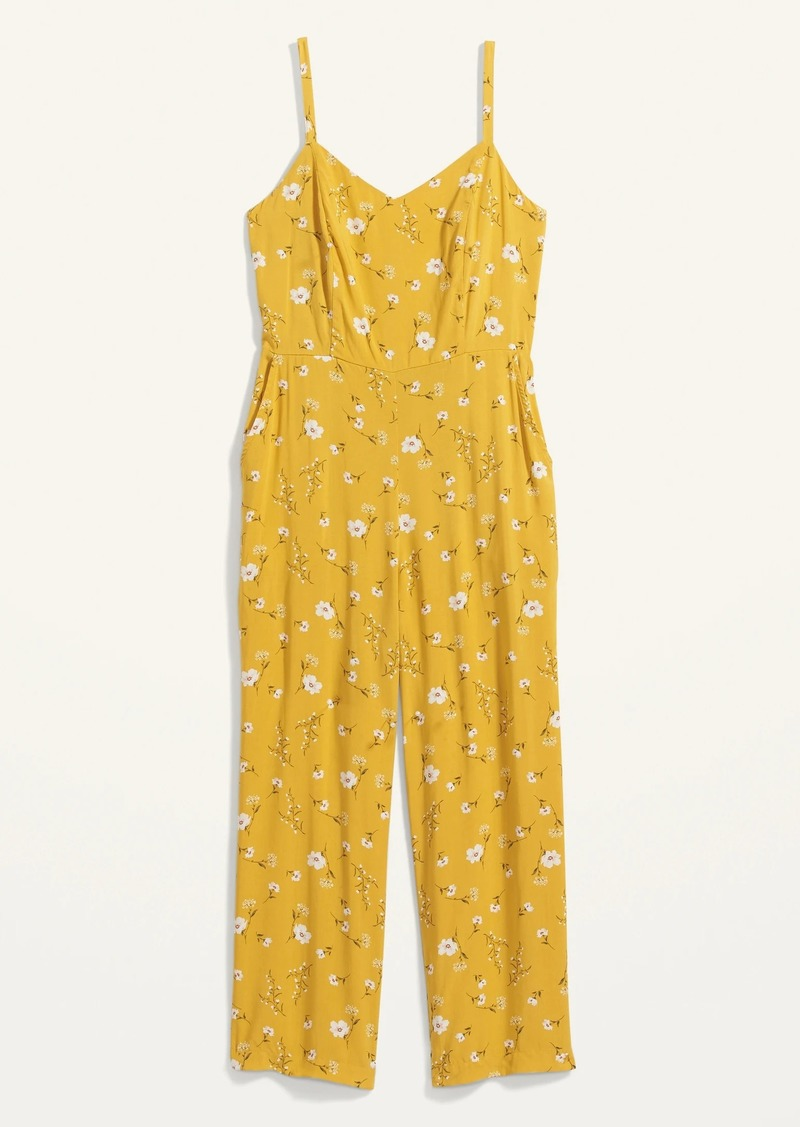 Old Navy Floral-Print V-Neck Sleeveless Cami Jumpsuit for Women