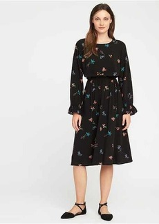 Old Navy Floral Ruffle-Sleeve Waisted Midi for Women