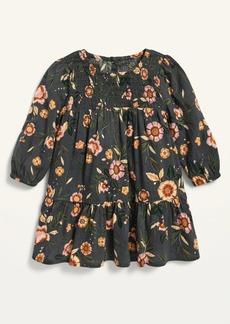 Old Navy Floral Smocked-Neck Dress for Toddler Girls