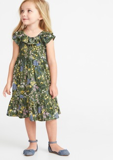 Old Navy Floral Tiered Swing Dress for Toddler Girls