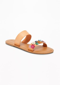 Old Navy Flower-Applique Double-Strap Sandals for Women