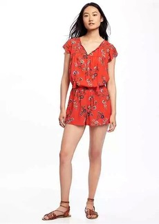 Old Navy Flutter-Sleeve Cinched-Waist Romper for Women
