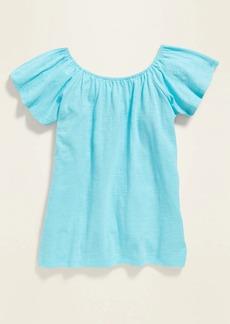 Old Navy Flutter-Sleeve Jersey Top for Girls