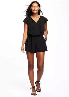 Flutter-Sleeve Romper for Women