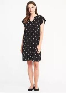 Flutter-Sleeve Swing Dress for Women