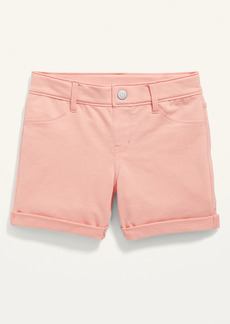 Old Navy French Terry Rolled-Cuff Midi Shorts for Girls