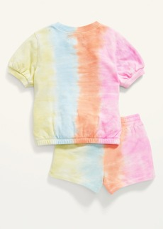 Old Navy French Terry Tie-Dye Sweatshirt and Shorts Set for Toddler Girls