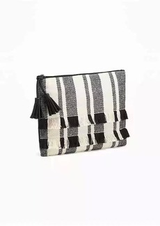 Old Navy Fringed Zip-Top Clutch for Women