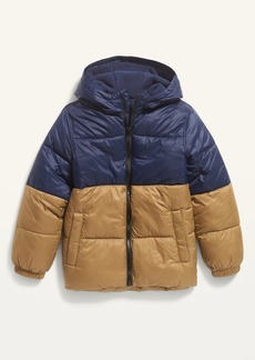 Old Navy Frost-Free Hooded Nylon Puffer Jacket for Boys