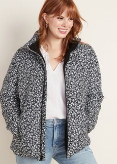 Old Navy Frost-Free Patterned Puffer Jacket for Women