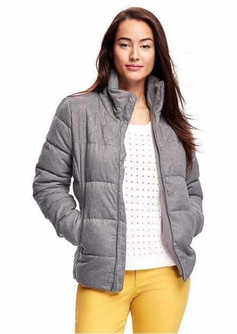 Old Navy Frost Free Quilted Herringbone Jacket For Women