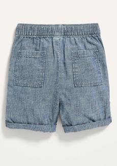 Old Navy Functional Drawstring Chambray Shorts for Toddler Boys