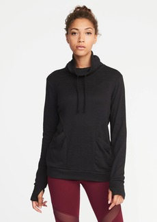 Funnel-Neck Pullover Hoodie for Women