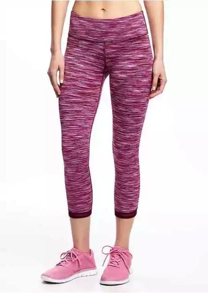 b53f48c7b68000 Old Navy Mid-Rise Space-Dye Mesh-Hem Crops for Women   Athletic Pants