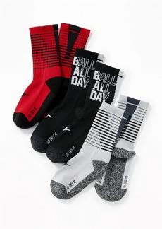 Old Navy Go-Dry Crew Socks 3-Pack for Boys