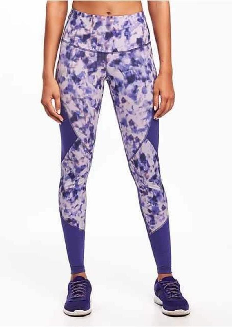 1decc953ab27 On Sale today! Old Navy Go-Dry High-Rise Mesh-Trim Leggings for Women