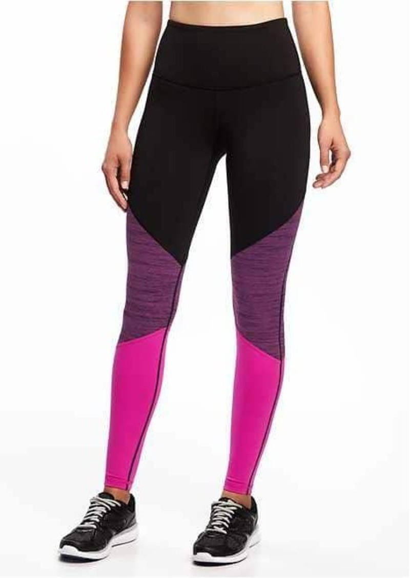 Old Navy Go-Dry High-Rise Color-Block Compression Tights for Women ... 19821cab1