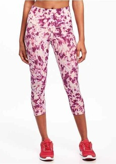 Old Navy Go-Dry High-Rise Printed Compression Crops for Women