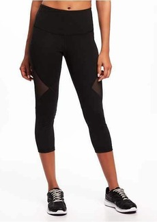 Old Navy High-Rise Mesh-Panel Compression Crops for Women