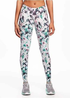 Old Navy Go-Dry Mid-Rise Printed Compression Leggings for Women