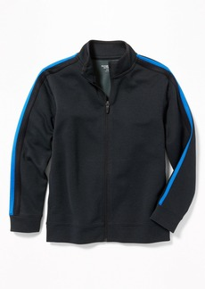 Old Navy Go-Dry Pieced-Stripe Track Jacket for Boys