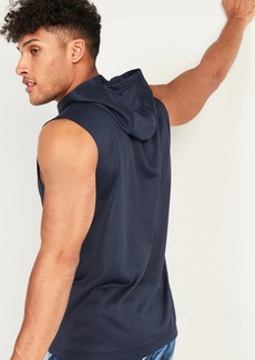 Old Navy Go-Dry Sleeveless French Terry Hoodie for Men