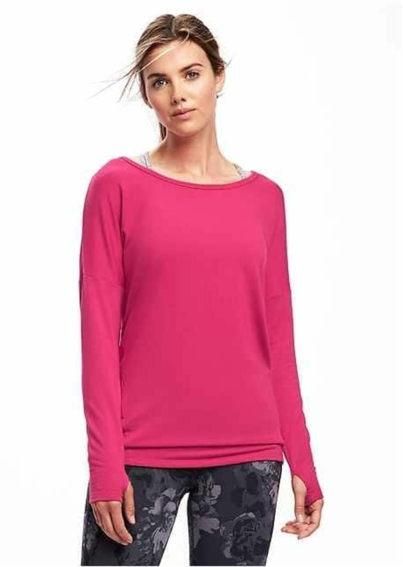 Old Navy Go Dry V Back Tee For Women Athletic Shirts