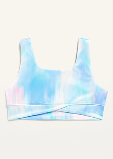 Old Navy Go-Dry Wrap-Front Sports Bra for Girls
