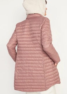 Old Navy Go-H20 Water-Resistant Long Narrow-Channel Puffer Jacket for Women