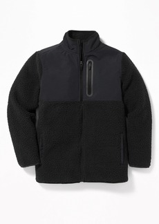 Old Navy Go-Warm Color-Blocked Sherpa Zip Jacket for Boys