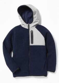Old Navy Go-Warm Hooded Sherpa Hybrid Jacket for Boys