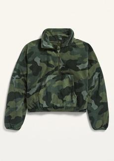 Old Navy Go-Warm Micro Fleece 1/2-Zip Pullover for Girls