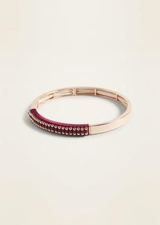 Old Navy Gold-Toned Beaded Stretch Bracelet for Women