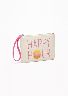 Old Navy Graphic Canvas Wristlet for Women