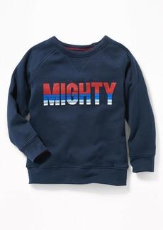 Old Navy Graphic Crew-Neck Raglan Sweatshirt for Toddler Boys